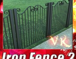 Wrought Iron Fence 02 3D Model
