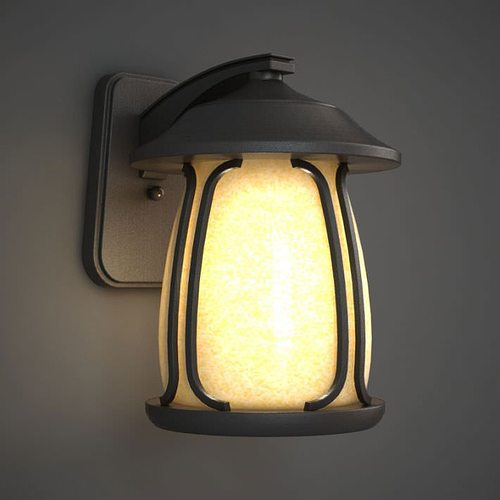 lighting sconce fixture 3d model obj 1