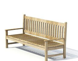 3d model garden furniture bench