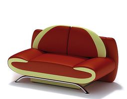 Modern Red Sofa 3D style