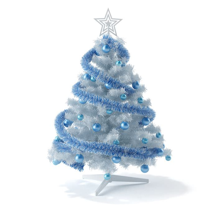 White and blue christmas tree 3d model - White and blue christmas tree ...
