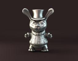 Mad rabbit pendant  3D Model