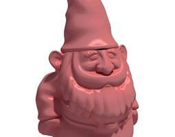 pink gnome sculpture 3d
