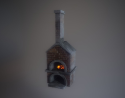 Game Ready LP Oven Blacksmith model PBR game-ready
