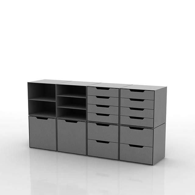Beautiful File Pedestal Walnut And Satin White  Contemporary  Filing Cabinets