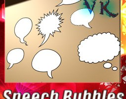 12 Speech Bubbles Collection 3D Model