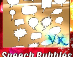 23 Speech Bubbles Collection 3D Model