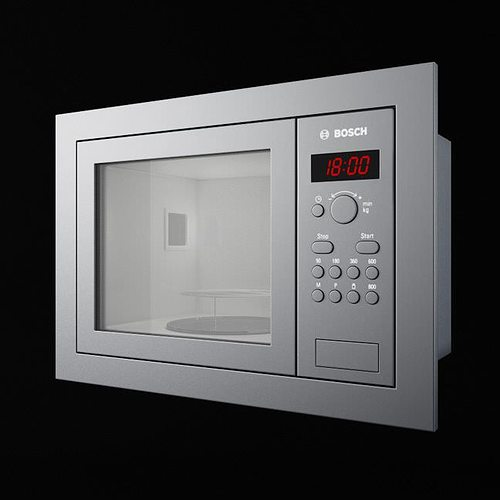 bosch hmt75 m6 kitchen appliance microwave 3d model obj mtl 1