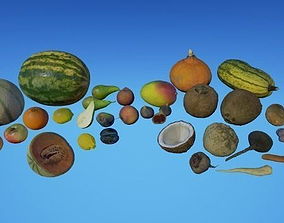 Fruits and Vegetables 3D asset game-ready