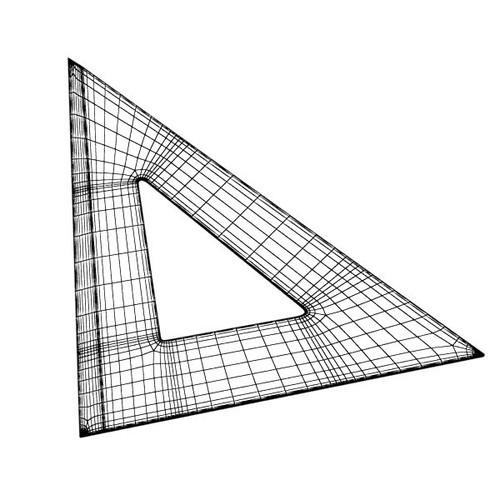 angle bevel ruler 02 3d model  max  obj  3ds  fbx