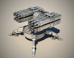 3D model Spider auto turret