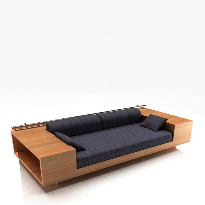 Sofa With Storage Drawers Model 1