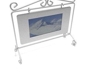 Picture Frame Metal Scroll Sleek 3D model