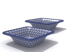 3D model Modern Purple Detailed Bowl Set