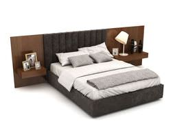 3D model Double Bed And Headboard
