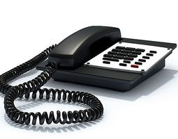 3D model Black Office Phone