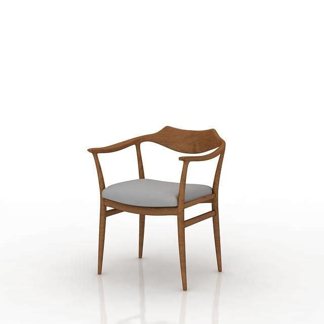Furniture Wooden Chair 3d Model Obj