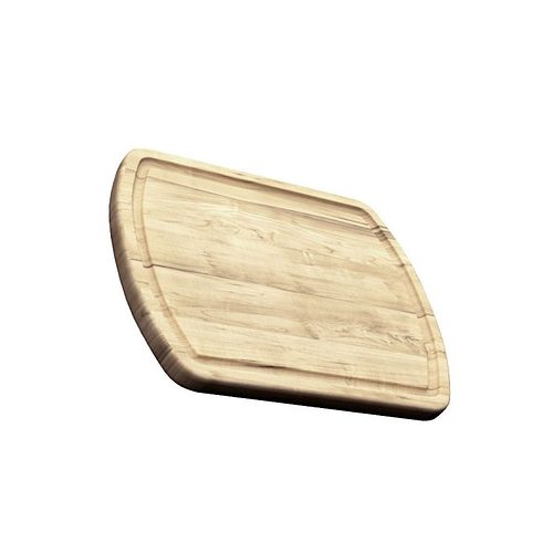 Smooth Wooden Cutting Board 3D