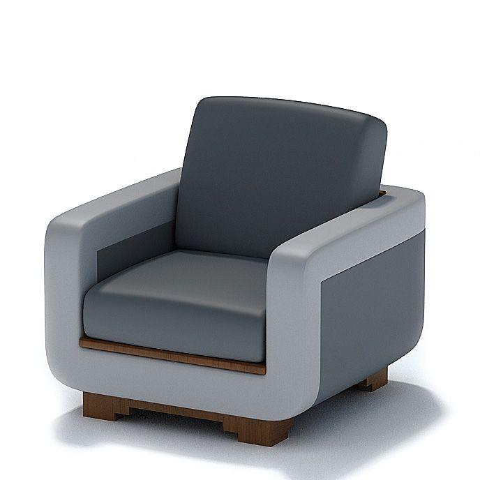 Modern Arm Chair 3D Model CGTrader