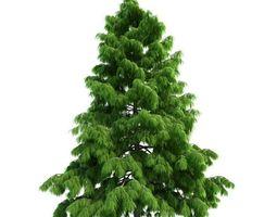 3d model modern christmas tree