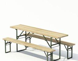 3D Convenient Bench And Desk