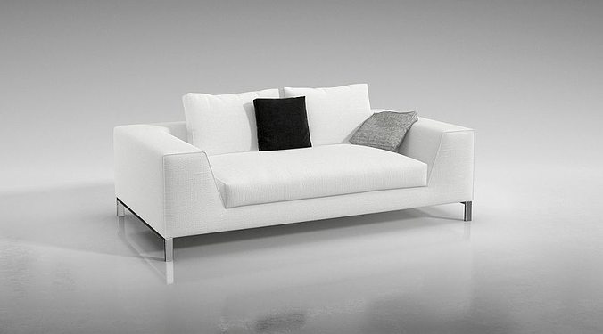 Modern White Couch Cgtrader