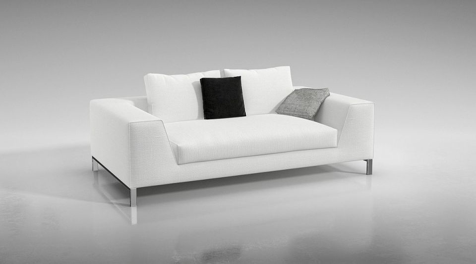 Modern White Couch Model