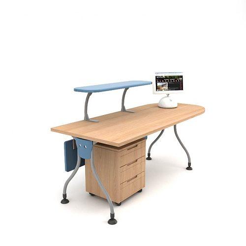 desk 3d model obj 1