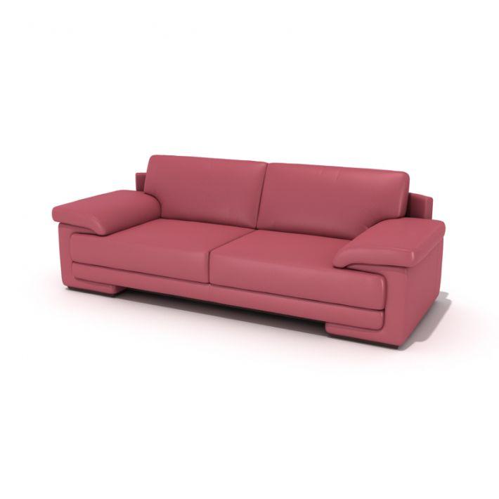 Long Pink Sofa 3D Model - CGTrader.com