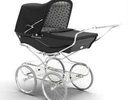 vintage looking baby stroller 3d