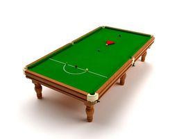 Big Billiards Table 3D