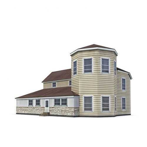 Two story model home cgtrader for Two story model homes