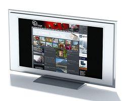 flat television screen 3d model