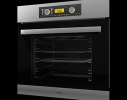 3D model Stainless Steel Kitchen Oven