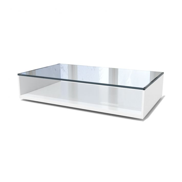 White Glass Coffee Table 3d Model