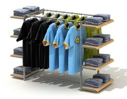 3D model Clothing Retailer Display Rack