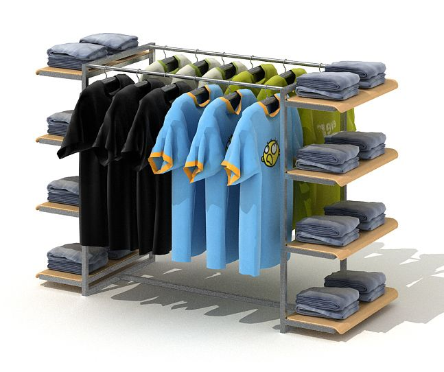 Clothing Retailer Display Rack 3D Model - CGTrader.com
