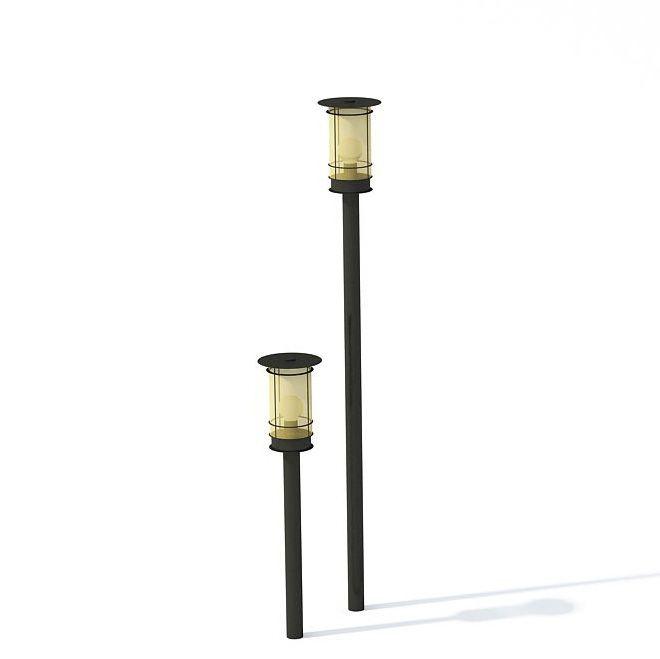 Superior Modern Black Garden Lamp 3d Model 1