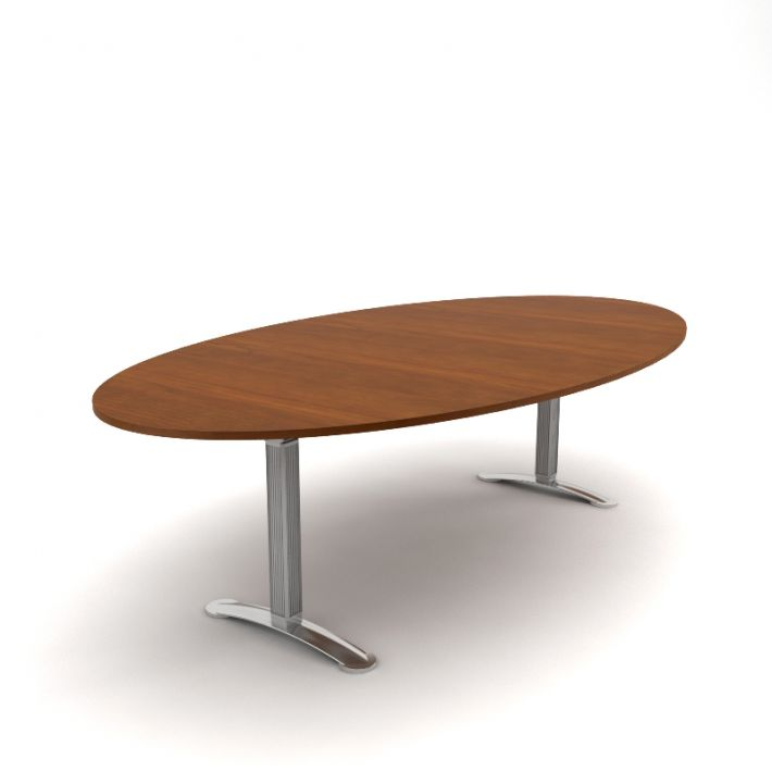 Amazing Oval Executive Meeting Table With Steel Legs 3D Model Spiritservingveterans Wood Chair Design Ideas Spiritservingveteransorg