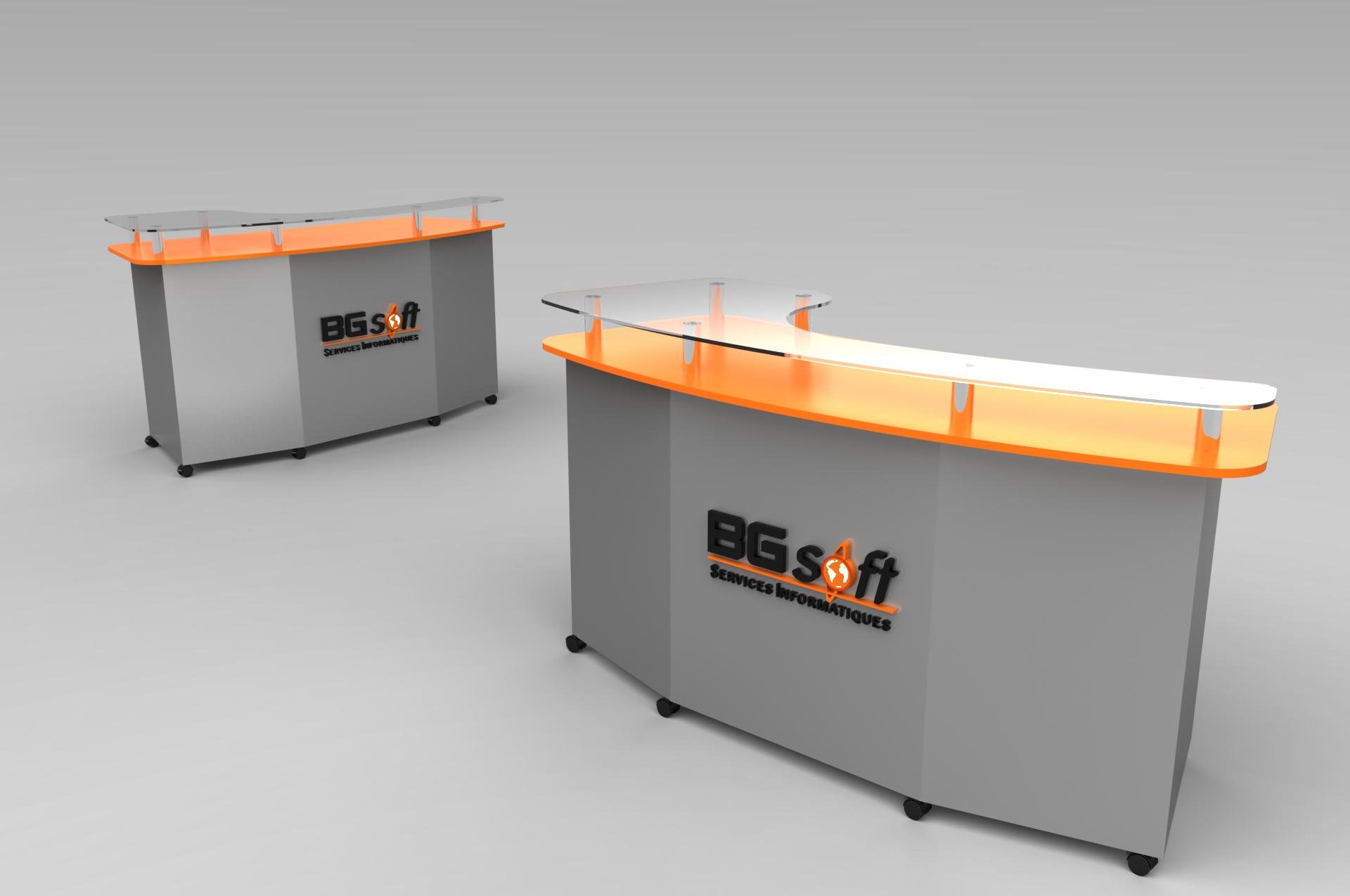 Front Desk Free 3d Model Sldprt Sldasm Slddrw
