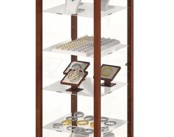 wood and glass jewelry display case 3d model