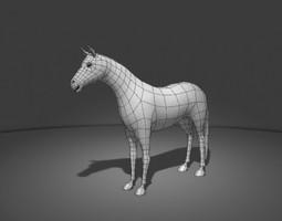 3d horse base mesh
