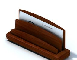 3D model Wooden Business Card Holder