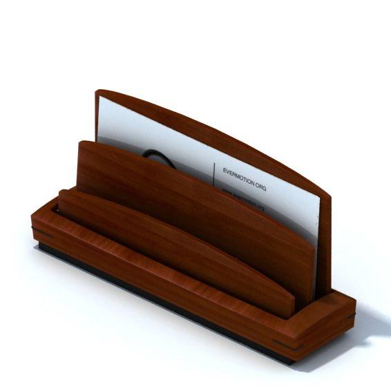 Wooden business card holder 3d model cgtradercom for Wooden business card holders