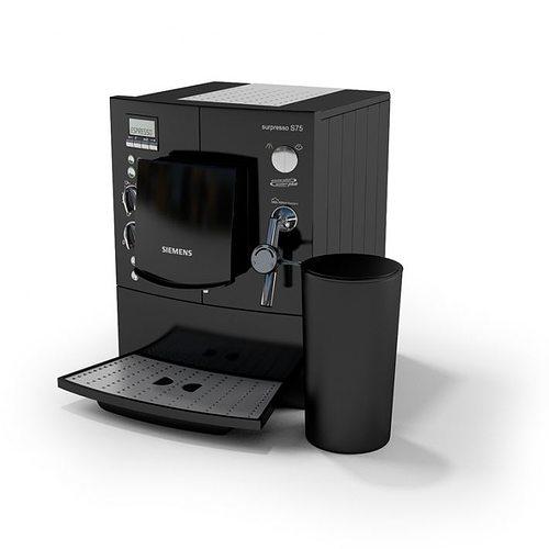 Automatic Coffee And Espresso Maker 3d Model Obj