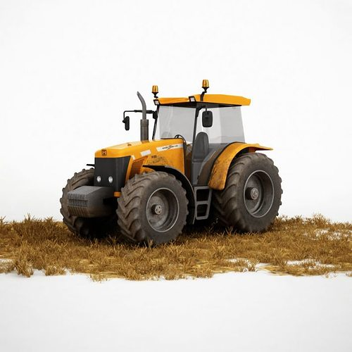 agriculture vehicle truck 3d model obj mtl 1