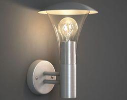 3D model Brushed Aluminum Wall Lamp