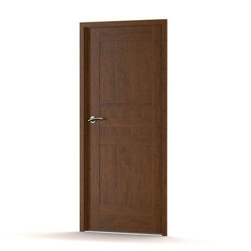 Brown wooden door 3d model obj for Door 3d model