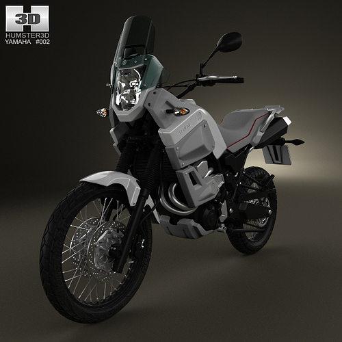 yamaha xt660z tenere 2012 3d model max obj 3ds fbx c4d lwo lw lws 1