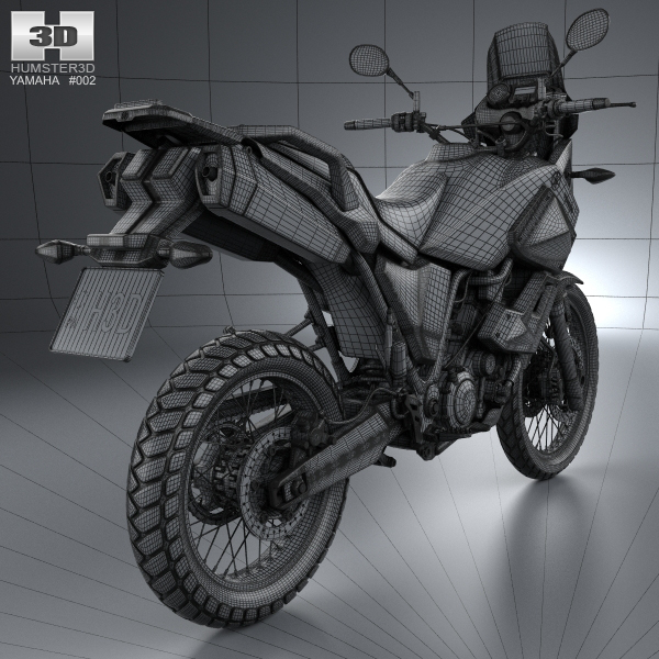 yamaha xt660z tenere 2012 3d model max obj 3ds fbx c4d lwo. Black Bedroom Furniture Sets. Home Design Ideas